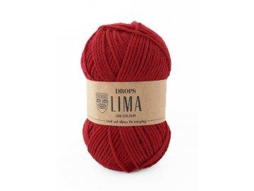 Příze DROPS Lima uni colour - 3609 červená