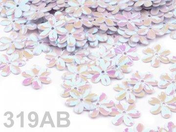 Flitry 15mm FLOWER, 4,5 g, bílá AB
