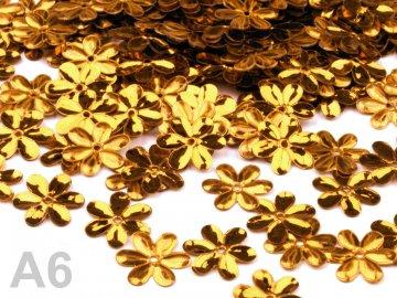 Flitry 15mm FLOWER, 5g, zlatá