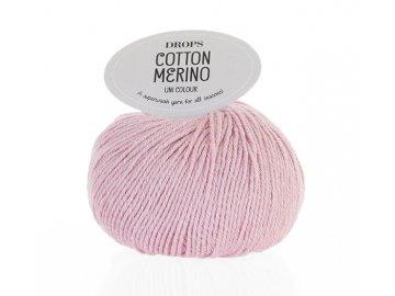 Příze DROPS Cotton Merino 05 - světle růžová