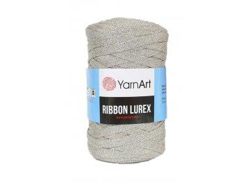Příze Ribbon Lurex 725 - béžová se stříbrnou nitkou