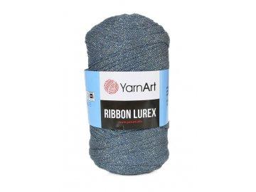 Příze Ribbon Lurex 730 - modrá se stříbrnou nitkou