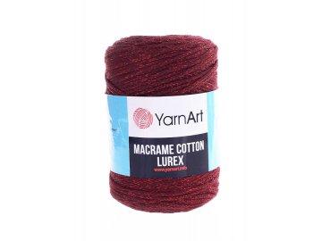 Příze Macrame Cotton Lurex 739 - bordó