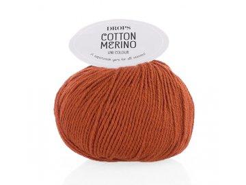 Příze DROPS Cotton Merino 25 - červenohnědá (rezavá)