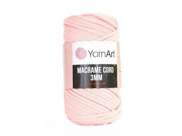 Příze Macrame Cord 767, 3 mm - lososová