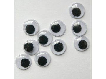 Oči dekorační samolepící 8 mm - 22851