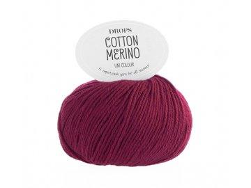 Příze DROPS Cotton Merino 7 - burgund
