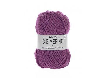 Příze DROPS Big Merino mix 11 - švestková