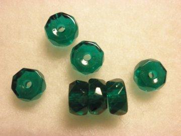 Broušené rondelky 6x3mm, emerald