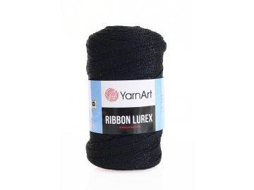 Příze Ribbon Lurex 722 - černá s černou nitkou