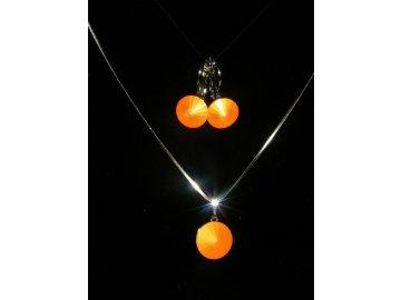 Souprava Swarovski Elements Rivoli - neon oranžová, 2071
