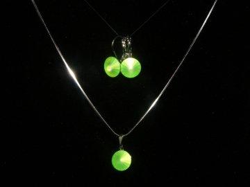 Souprava Swarovski Elements Rivoli - neon zelená, 2074