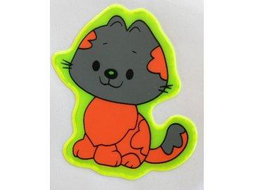 Reflexní samolepka - kočička