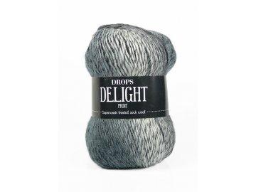 Příze DROPS Delight print 01 - šedá/černá