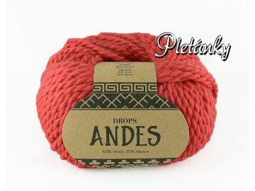 Příze Drops Andes uni colour 3740 - korálová