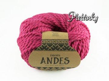 Příze Drops Andes uni colour 3755 - fuchsiová