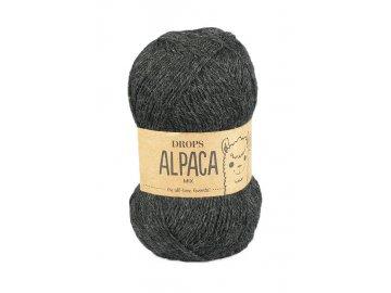 Příze DROPS Alpaca mix 0506 - tmavě šedá