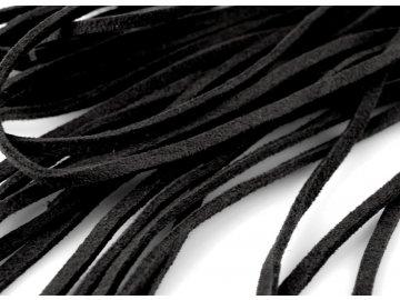 Řemínek imitace semiše 3mm délka 1m, černá 4