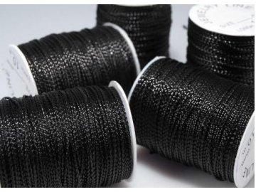Šňůrka s lurexem 1mm (metráž), černá