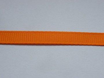 Stuha taftová 6mm , oranžová - 617