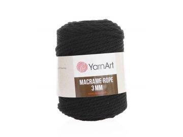 Macrame Rope 750, 3mm - černá
