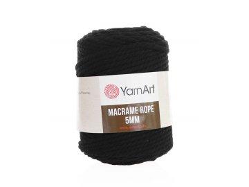 Macrame Rope 750, 5mm - černá