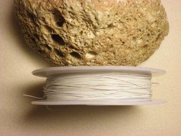 Nylonové lanko 0,45mm , bílá, 60-70 m