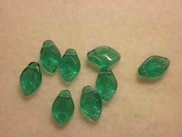 Ploché listy 8x12mm, emerald