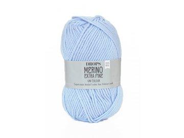 Příze DROPS Merino Extra Fine uni color 14 - ocelově modrá