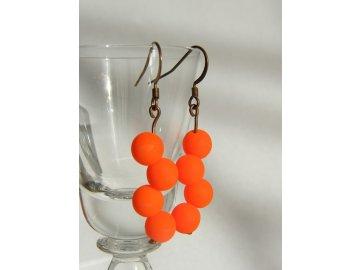 Náušnice neonky oranžové, 5216