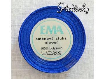 Stuha saténová 6 mm, 13 - sytě modrá