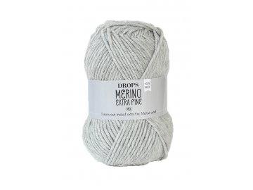 Příze DROPS Merino Extra Fine mix 05 - světle šedá