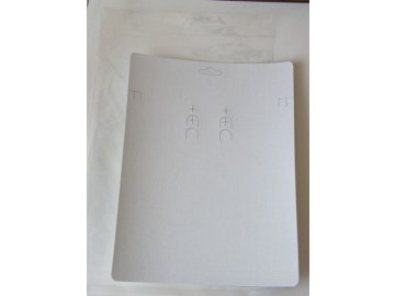 Bižuterní karta 150x200mm, bílá