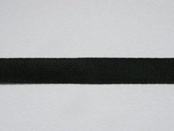 Stuha taftová 6mm ,  černá - 900