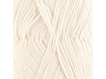 Příze DROPS BabyAlpaca Silk uni color 0100 - smetanová