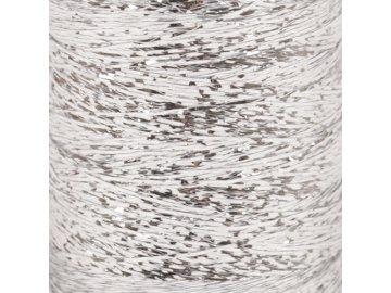Příze DROPS Glitter - 02 stříbrná