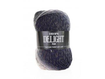 Příze DROPS Delight print 02 - černá-šedá-hnědá