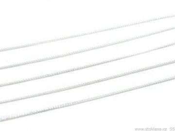 Bižuterní řetízek 0,9x0,9mm, metráž, postříbřeno
