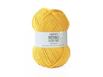Příze DROPS Merino Extra Fine uni color 30 - zlatá