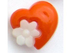 srdíčko s květinkou oranž.