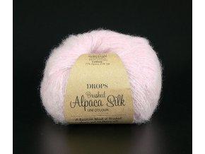 Příze DROPS Brushed Alpaca Silk 12 - pudrově růžová