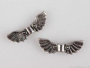 Kovová křídla 7x22 mm , 210863 - platina