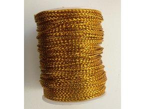 Šňůra s lurexem 1mm návin 8-10m, zlatá