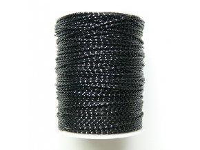 Šňůra s lurexem 1mm návin 8-10m, černá