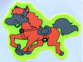 Reflexní samolepka - koník