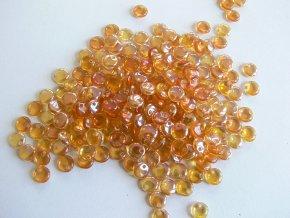Mačkané korálky tvarové,  čočka 6 mm, oranžová