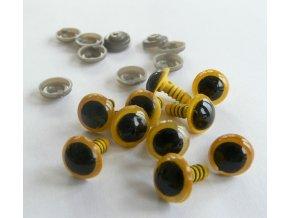 Oči napichovací bezpečnostní plastové  12mm - žluté, 23352