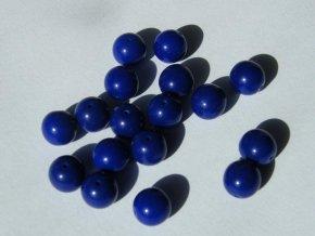 Korálky mačkané kulaté 8mm, 33070 - švestkově modrá
