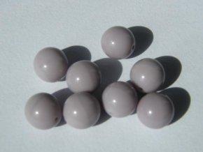 Korálky mačkané kulaté 8mm, 23010 - světle fialová