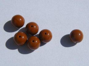Korálky mačkané kulaté 8mm, 13600 - sytá hnědá